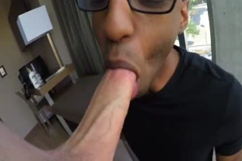 Interracial blow job-service swap